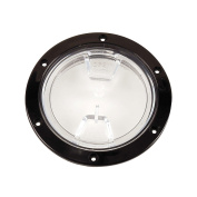 Beckson 10cm Clear Centre Screw Out Deck Plate-Black