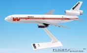 "Western ""White Scheme"" DC-10 Aeroplane Miniature Model Plastic Snap-Fit 1:250 Part# ADC-01000I-009"