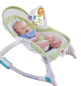 Fisher Price Rainforest Friends Newborn-To-Toddler Portable 3 Position Rocker Bouncer with soothing Vibration and Toy Bar