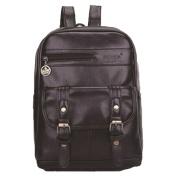 Koola's bag Women's Multi Pockets Genuine Leather Small Backpack Shoulder Bag