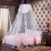 MTURE Mosquito Nets White Mosquito Net Bed Canopy 12 Metre Full Coverage Protection for Home Or Holidays. Fits up to Kingsize bed, Non Skin Irritation. Mosquito Nets 4 U Bed Canopy - Insect Protection