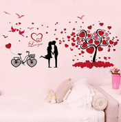 Warm Love Cartoon Couples Wall Bedroom Warm Romantic Bedside Walls Are Decorated Wall Sticker Wallpaper Posters Creative Wall Paintings