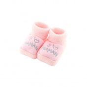 baby booties 0-3 Months rose - I love mom