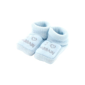 baby booties 0-3 Months Blue - I like godfather