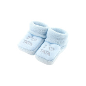 baby booties 0-3 Months Blue - I like tata