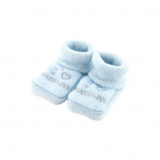 baby booties 0-3 Months blue - I love godmother