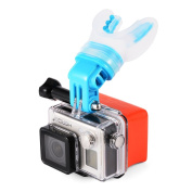 TELESIN Breathable Mouth Mount (Blue) + Floaty for Surfing Skating, Gopro Cameras Hero 4/3+/3/2/1, XiaoMi XiaoYi, SJCAM OS585