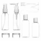 SZTARA 6pcs/Set Portable Travel Bottles for makeup Cosmetic Toiletries Liquid Containers Leak Proof with Spatula Pipette and Funnel