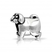 truecharms Silver Pug Puppy Dog Animal Charm Beads Fits Pandora Jewellery Charms Bracelets