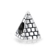 truecharms Silver Plated Egyptian Pyramid Charm Beads Fits Pandora Jewellery Charms Bracelets