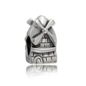 truecharms Silver Plated Dutch Windmill Tower Travel Charm Beads Fits Pandora Jewellery Charms Bracelets