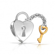 truecharms Lock Key to Heart Charm Beads Jewellery Fits Pandora Charms Bracelets