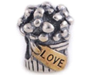 Bouquet Women's Charm Bead suitable for Pandora and similar 100% 925 Sterling Silver