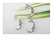 3pcs Own Charm~ Silver Man in the Moon Charms - Crescent Moon 20*15mm