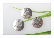 """3pcs Own Charm~ Silver """"Live Your Dream"""" Tags Charms 20x20mm"""