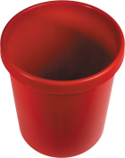 helit H6106125 Large Waste Paper Basket 30 l Red