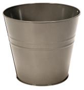 Small Galvanised Metal Waste Paper Basket Bin Ideal for Bedroom / Bathroom / Rubbish / Dustbin / Office