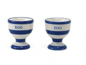 Home Sweet Home Blue & White Stripe Egg Cups