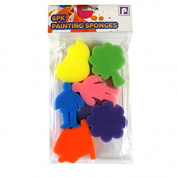 Children's Painting Sponges - Outdoor Scene Shapes - Pack of 6