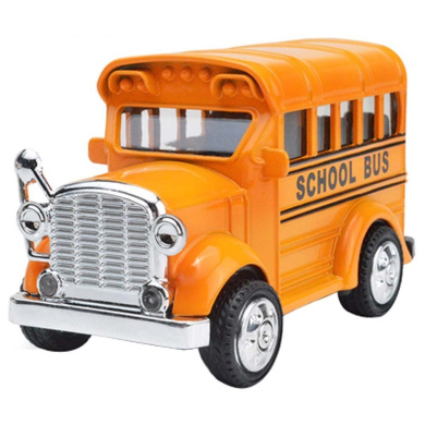 Back Car Model Sound Lights Toy Car Alloy Double Retro Bus