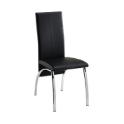 X4 Black Faux Leather Dining chairs with thick Foam Padded with Chrome leg frame, each = £39.00 Super Saver Promotional offer