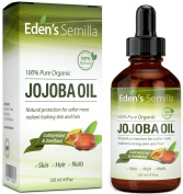 100% Pure Jojoba Oil - 120ml - Certified ORGANIC - Best Natural Oil Moisturiser for Radiant Looking Skin, Silky Smooth Hair and Strong Nails - Ideal For Sensitive Skin - All Round Protection Day & Night - Cold Pressed & Unrefined