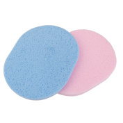 2Pcs Sponge Face Facial Washing Cosmetic Cleansing Foundation Puff