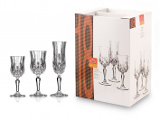 Rcr Opera Set of Goblets, Glass, Transparent, Set of 19 Pieces