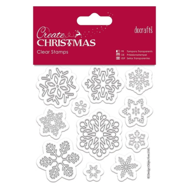Papermania 102 x 102 mm Snowflakes Mini Clear Stamps