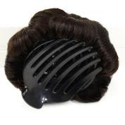 A & R@Human Hair Bun Chignon Clip Bun Extension Natural Black Colour Donut Chignon Hairpiece Extensions Wig
