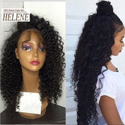 Helene Hair Top Quality Brazilian Virgin Hair Deep Curly Wave Wig Lace Front Wigs with Baby Hair Human Hair Lace Wigs for Black Women