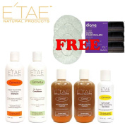 Etae Shampoo, Conditioner, 2 Treatment, Shine, with Free Caps and Satin Rollers