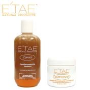 E'TAE Natural Products Carmel Deep Reconstructing Treatment 240ml, Buttershine Moisturising Hair and Scalp Cream 60ml