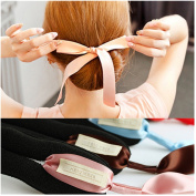 4Pcs Elegant Ribbon Magic French Twist Bun Maker Clip Hook Holder Magic Roll Rings Donut Updo Chignon Former Pads Foam Sponge Hair Styler Curler Braid Ponytail Stick Hairstyle Styling Tool Accessories