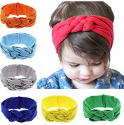 PETMALL 3pcs Headwear Lace Flower Newborn Baby Infant Toddler Kid Girl Headband Christening Elastic Hair Accessories E006