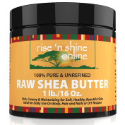 Raw Shea Butter (470ml) with RECIPE EBOOK - Perfect for All Your DIY Home Recipes Like Soap Making, Lotion, Shampoo, Lip Balm and Hand Cream - Organic Unrefined Ivory Shea for Soft Skin and Hair
