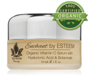Organic Vitamin C Serum w/ Hyaluronic Acid Enchant by Esteem - Anti Ageing Serum & Eye Cream - Get Rid of Age Spots & Get Rid of Wrinkles - The Best Eye Wrinkle Cream & Organic Skin Care Products