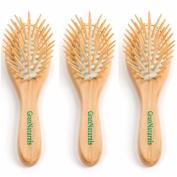 GranNaturals Detangling Wooden Bristle Hair Brush - Small, Travel Size
