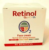 Mincer Pharma Retinol Q10 + C + O2 Face Cream, Day & Night Normal Skin Lacking Firmness, 50 ml / 1.69 fl oz.