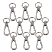 RDEXP Silver Zinc Alloy Swivel Snap Hook Clasp Clip for Bags Pack of 10
