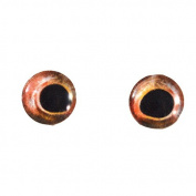 10mm Mirrored Red Bass Glass Fish Eyes Nautical Doll Irises for Art Polymer Clay Taxidermy Sculptures or Jewellery Making Set of 2