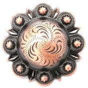 Berry Concho Antique Copper Screw Back 2.5cm - 1.3cm 7860-10