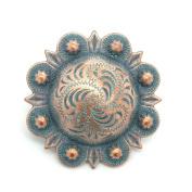 Berry Concho Antique Copper Patina All Metal 2.5cm 7862-90
