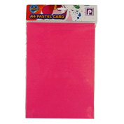 A4 Pastel Coloured Card - Pack of 12 - Mixed Colours - Size 3.6m x 2.5m - by Pennine