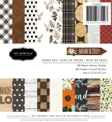 American Crafts Pebbles Patterned PB JH Warm & Cosy Paper Pads (36 Sheets), 15cm x 15cm