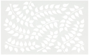 Ranger DYS49838 Fronds of Foliage Dyan Reaveley's Dylusions Stencils, 13cm by 20cm , White
