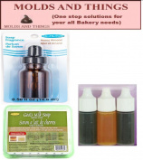 Goats Milk Melt and Pour Soap Base, Red/Yellow/ Blue Soap Colour, Honey Almond Saop Fragrance