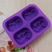 Always Your Chef Silicone Ellipse Angels Shaped Soap Moulds, Random Colours