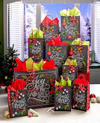 31-Pc. Chalkboard Carols Gift Bag Set