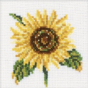 Sunflower Counted Cross Stitch Kit-4X4 14 Count